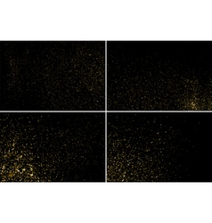 Gold glitter texture set vector image vector image
