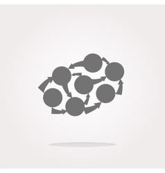 Graph icon on round button vector