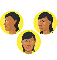Head african american woman vector