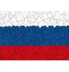 Hearts doodles hand drawn flag Russia Moscow vector image