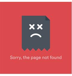 Http 404 not found error message hypertext vector