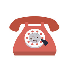 Kawaii telephone call communication cartoon vector