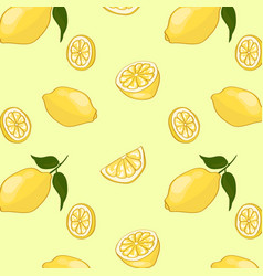 Light summer fruit pattern vector