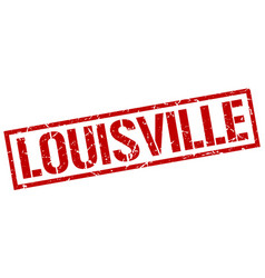 Louisville red square stamp vector
