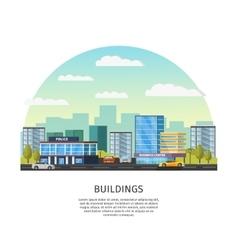 Modern cityscape template vector