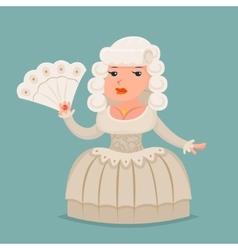 Noble medieval lady aristocrat countess princess vector