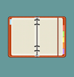 Notebook with bookmark isolated on background vector