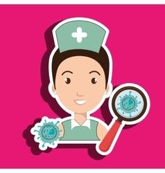 Nurse service search healthy vector