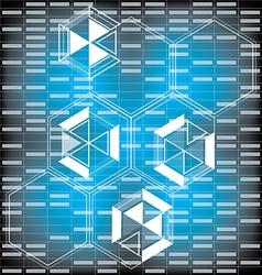polygon technolog vector image