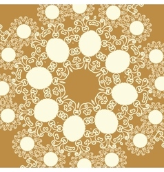 Print in oriental style of light brown sepia color vector