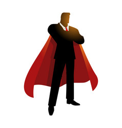 Silhouette of a super businessman vector