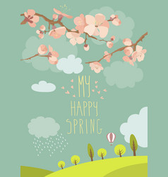 spring blooming tree vector image