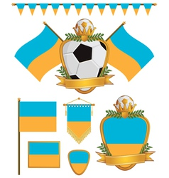 ukraine flags vector image vector image