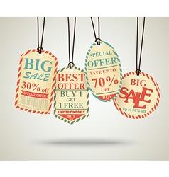 Vintage Sale Tags Design retro vector image vector image