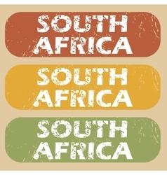 Vintage south africa stamp set vector