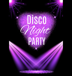 Disco party poster nightclub vector