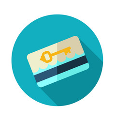 Electronic keycard icon summer vacation vector
