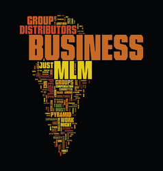 Mlm business text background word cloud concept vector