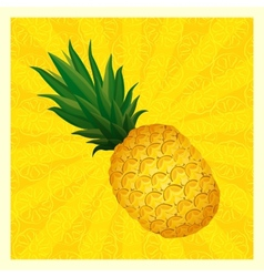 Yellow pineapple background- vector