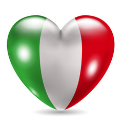 Heart shaped icon with flag of italy vector