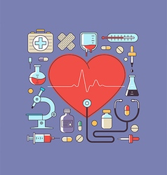 Health and medical care vector
