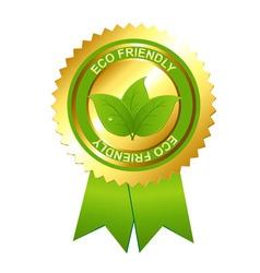 eco friendly emblem vector image