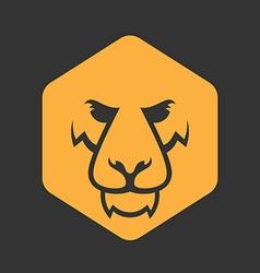 Lion logo sport mascot predator lion logotype vector