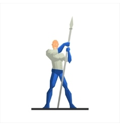 Superhero with a spear vector