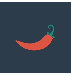 Chilli pepper icon vector