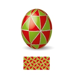 Easter egg with ornament vector