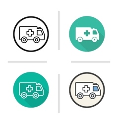 Ambulance icons vector