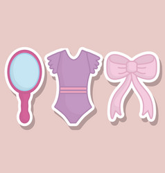 ballet related icons vector image