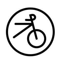 bicycle icon - iconic design vector image