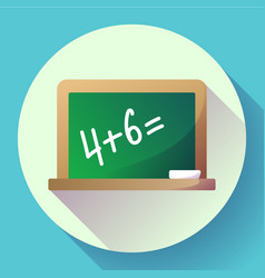 blackboard icon welcome back to school theme flat vector image