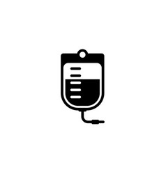 blood bag and medical services icon flat design vector image