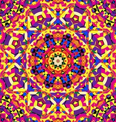 Bright circular kaleidoscope pattern vector