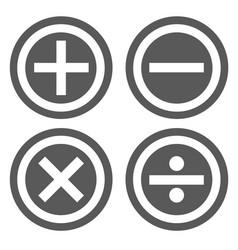 calculator icon set simple vector image vector image