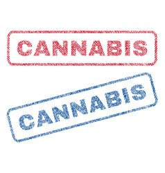 Cannabis textile stamps vector