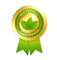 eco friendly emblem vector image vector image