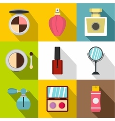 Face care icons set flat style vector