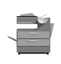 Flat printer copy machine vector image