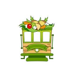 Food-Train-380x400 vector image vector image