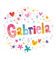 Gabriela girls name vector