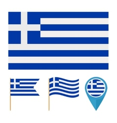 Greece Europe country flag vector image vector image