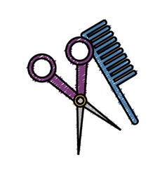 Hair comb icon vector