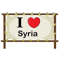 I love syria vector