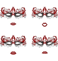 Masquerade mask different emotion set vector