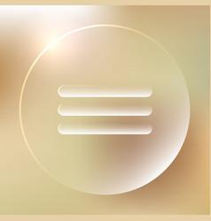 Menu glassy icon menu glassy icon vector