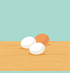 Natural farm eggs on the table vector