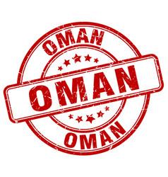 Oman red grunge round vintage rubber stamp vector